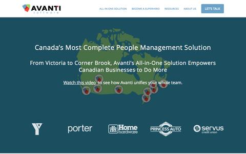 Canada's people management solution for Payroll & HR | Avanti Software