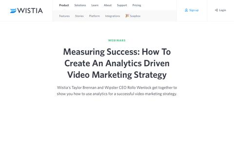 Wistia - Video Hosting for Business