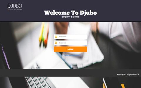 Screenshot of Signup Page Login Page djubo.com - Djubo - captured March 1, 2016
