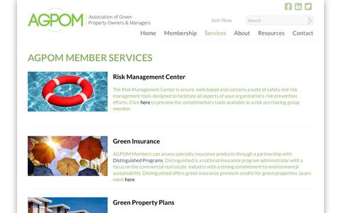 Screenshot of Services Page agpom.org - Services | AGPOM - captured Nov. 30, 2016
