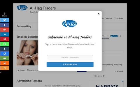 Screenshot of Blog alhaqtraders.com - Business Blog | Marketing | Industry | B2B | Web | Life & more - captured July 25, 2016