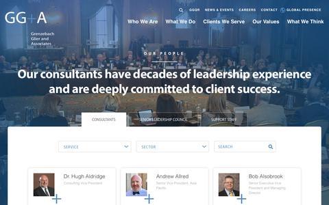 Screenshot of Team Page grenzebachglier.com - Philanthropy Consultants | GG+A - captured Sept. 23, 2017