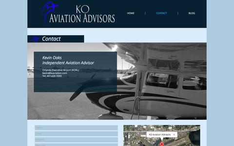 Screenshot of Contact Page koaviation.com - koaviation | CONTACT - captured Nov. 27, 2016
