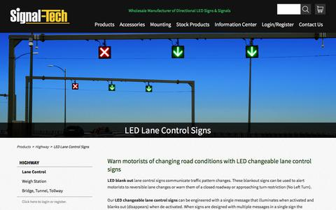LED Blank Out Signs | LED Changeable Lane Control Signs | Reversible Lane Signs | Signal-Tech