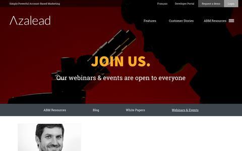 Webinars & Events   Azalead