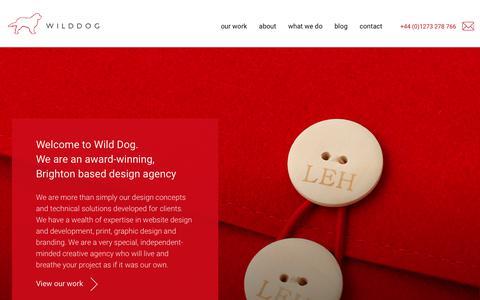Screenshot of Home Page wilddogdesign.co.uk - Wild Dog Design - Award-winning digital design agency in Brighton - captured Oct. 18, 2018