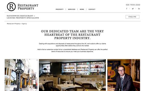 Screenshot of About Page Services Page restaurant-property.co.uk - Agency | Restaurant Property - captured Oct. 26, 2014