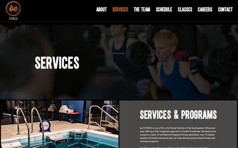 Screenshot of Services Page befitnesscenter.com - Services | beFITNESS Health & Fitness Club - Delafield, Wisconsin - captured Oct. 5, 2018