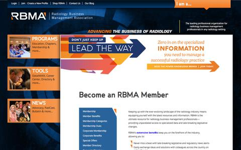 Screenshot of Signup Page rbma.org - Membership - captured June 16, 2017