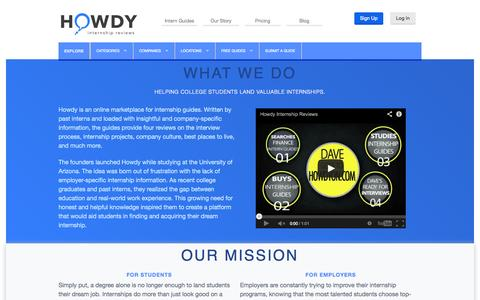 Screenshot of About Page howdyon.com - Howdy | Our Story - captured Sept. 30, 2014