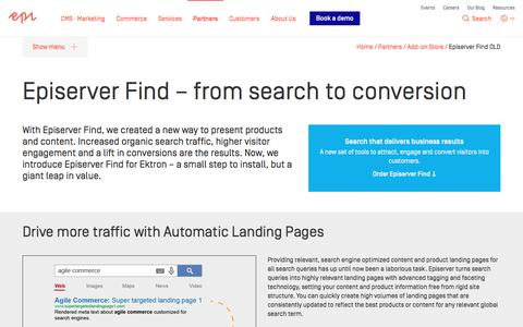 Episerver Find –from search to conversion