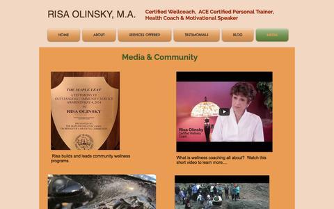 Screenshot of Press Page risaolinsky.com - Risa Olinsky, Health & Wellness Coaching, Fitness, Speaking | MEDIA - captured Dec. 9, 2016