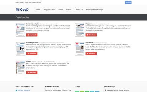 Screenshot of Case Studies Page ceed-scotland.com - Case Studies | CeeD - captured Sept. 29, 2014
