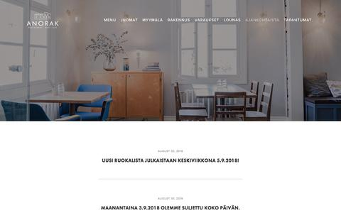 Screenshot of Press Page anorak.fi - AJANKOHTAISTA — Anorak - captured Sept. 25, 2018