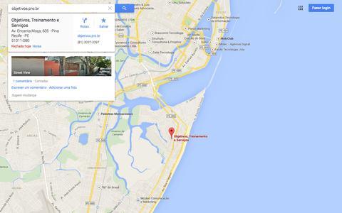 Screenshot of Maps & Directions Page google.com.br - Google Maps - captured Nov. 1, 2014