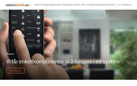 Screenshot of Support Page celsiusteknikk.no - Support | Celsius Teknikk AS - captured Sept. 27, 2018