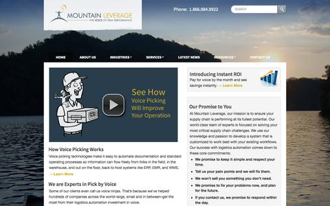 Voice Directed Workflows & Picking | Pick to Voice | Logistics Automation | Mountain Leverage
