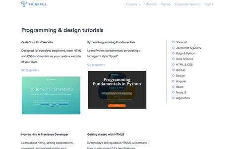 Free programming and design tutorials · Thinkful