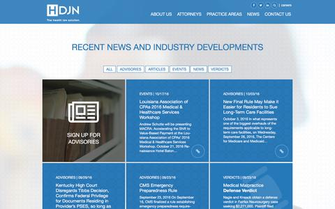 Screenshot of Press Page hdjn.com - Recent News and Industry Developments — HDJN - captured Oct. 21, 2016
