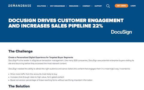 Screenshot of Case Studies Page demandbase.com - DocuSign Increases Sales Pipeline 22% with Demandbase - captured Nov. 6, 2019