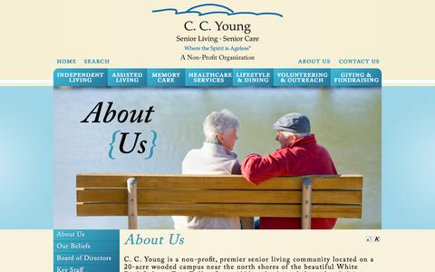 Screenshot of About Page ccyoung.org - About Us | Assisted Living Dallas | C.C. Young - captured July 8, 2016