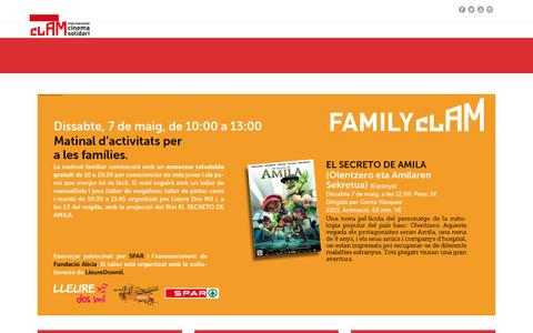 Screenshot of Home Page clamfestival.org - Festival Internacional de Cinema Solidari de Navarcles – Festival clam 2016 - captured Nov. 25, 2016