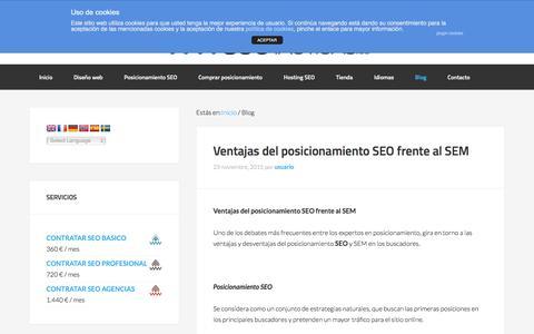 Screenshot of Blog seotacticas.es - Posicionamiento SEO en buscadores - Opinión y noticias - captured Nov. 25, 2015