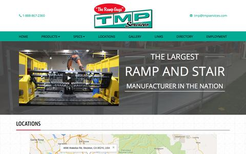 Screenshot of Locations Page tmpservices.com - TMP Services| Stair Company Riverside CA| Contact Us - captured Oct. 24, 2017