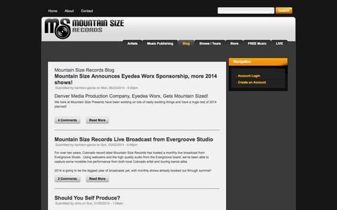Screenshot of Blog mountainsizerecords.com - Mountain Size Records Blog - captured Oct. 9, 2014