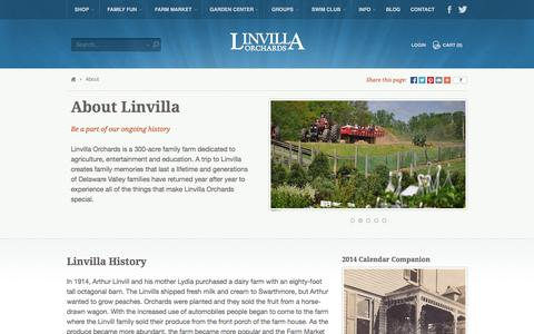 Screenshot of About Page linvilla.com - About - captured Oct. 3, 2014