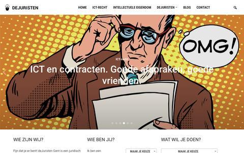 Screenshot of Home Page oorleef.eu - deJuristen - Legal agency voor ICT-recht & intellectuele eigendom - captured Nov. 29, 2016