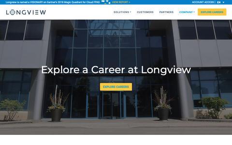Screenshot of Jobs Page longview.com - Careers - Longview - captured Dec. 19, 2018