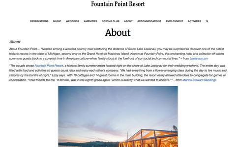 About – Fountain Point Resort