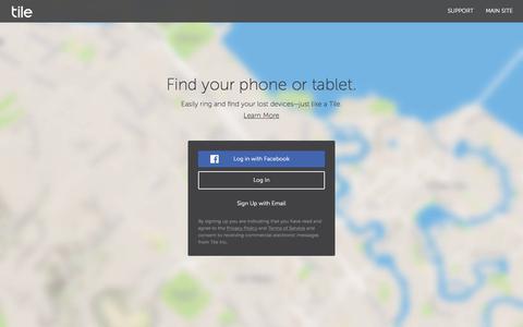 Screenshot of Login Page thetileapp.com - Sign in - captured Nov. 3, 2019