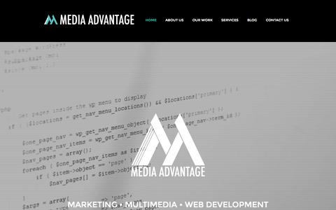 Screenshot of Home Page themediaadvantage.com - The Media Advantage - Creative Agency | Lansing, MI - captured Sept. 13, 2015