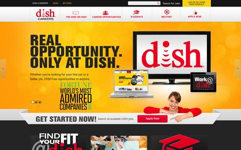Screenshot of Jobs Page dish.com - Search and apply for jobs at DISH | DISH Careers - captured Oct. 30, 2015