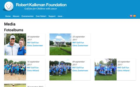 Screenshot of Press Page robertkalkmanfoundation.com - Media | Robert Kalkman Foundation - captured Nov. 2, 2017