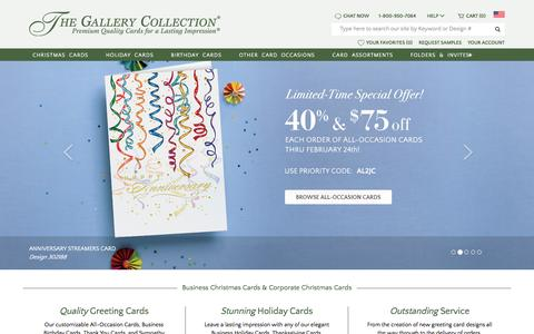 Screenshot of Home Page gallerycollection.com - Business Christmas Cards & Corporate Holiday Cards | The Gallery Collection - captured Feb. 17, 2016