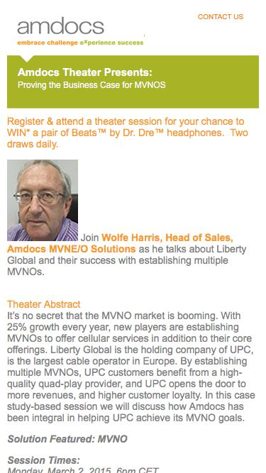 Amdocs MWC 2015 Insight Theater Presents: Proving the Business Case for MVNOS