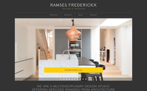 Screenshot of Home Page ramsesfrederickx.com - Ramses Frederickx - captured Feb. 16, 2016