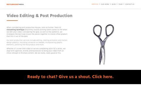 Post Production House in Chicago | Bottle Rocket Media | Bottle Rocket Media
