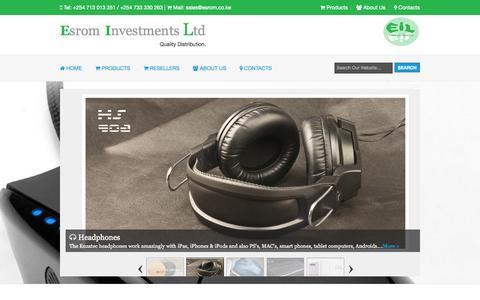 Screenshot of Home Page esrom.co.ke - Esrom Investments Ltd - captured Oct. 2, 2014