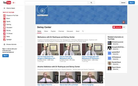 Screenshot of YouTube Page youtube.com - Delray Center  - YouTube - captured Oct. 25, 2014