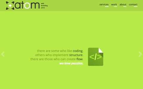 Screenshot of Home Page atom.com.gt - Atom - Guatemala :: Web design, development, branding & ux/ui - captured Oct. 4, 2018