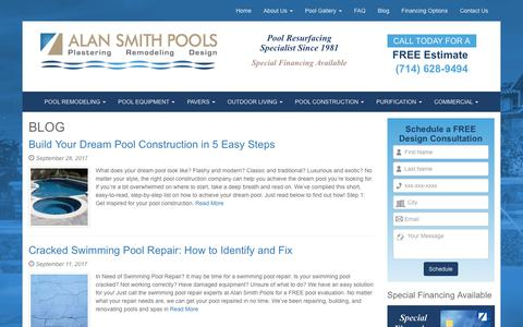 Screenshot of Blog alansmithpools.com - Blog - Alan Smith Pools - captured Oct. 7, 2017