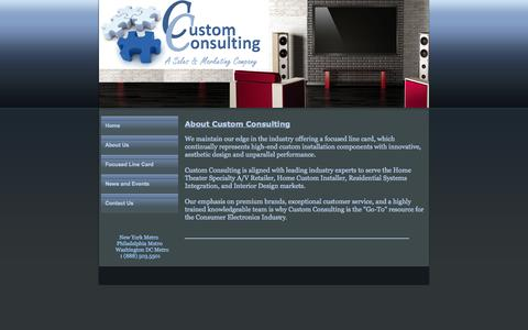 Screenshot of About Page custom-consulting.com - Custom Consulting, Custom Consulting New York, NY About Us - captured Sept. 30, 2014