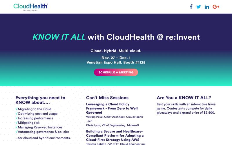 KNOW IT ALL with CloudHealth Tech at AWS re:Invent