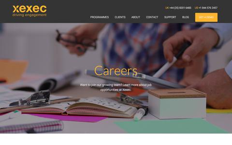 Screenshot of Jobs Page xexec.com - Career & Job Opportunities at Xexec - Join Our Growing Team - captured June 17, 2017