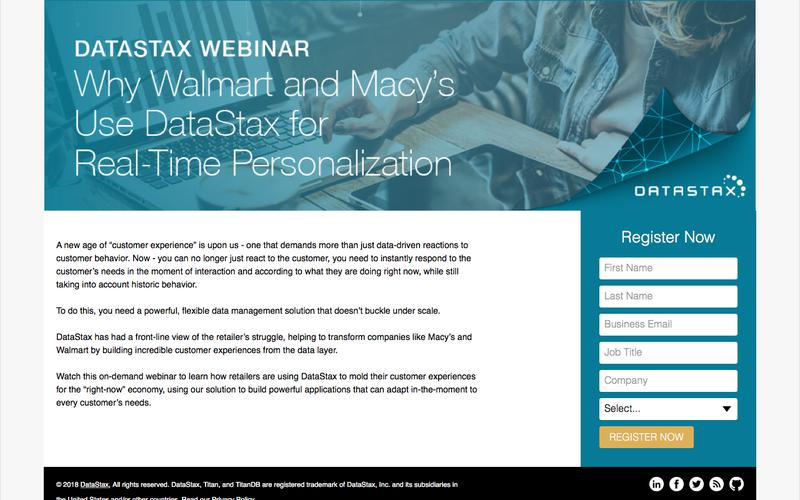 Why Walmart and Macy's use DataStax for Real-Time Personalization