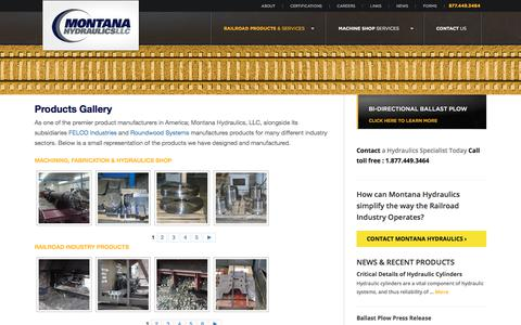 Screenshot of Products Page montanahydraulics.com - Product Manufacturers | Product Manufacturer -  | Montana Hydraulics LLC - captured Feb. 5, 2018